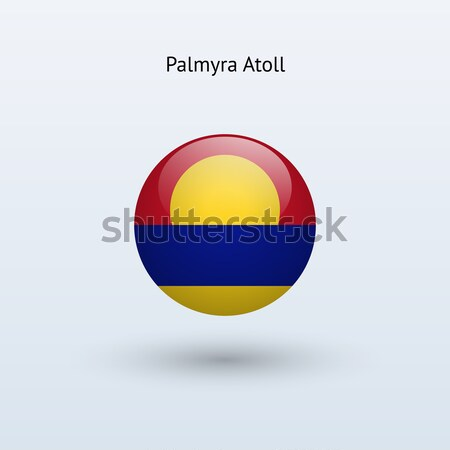 Palmyra Atoll round flag. Vector illustration. Stock photo © tkacchuk