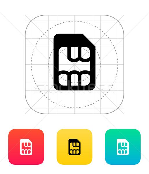Micro ícone telefone fundo segurança móvel Foto stock © tkacchuk