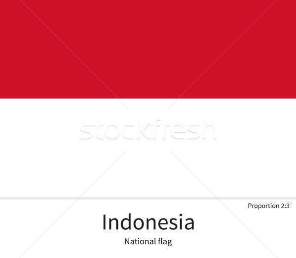 Bayrak Endonezya düzeltmek renkler eğitim Stok fotoğraf © tkacchuk