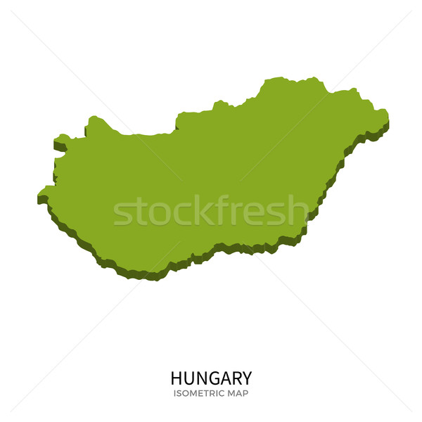 Isometric map of Hungary detailed vector illustration Stock photo © tkacchuk