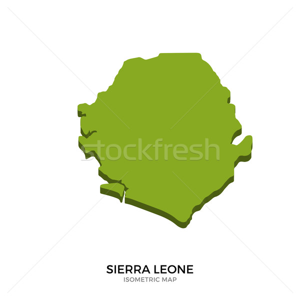 Stock photo: Isometric map of Sierra Leone detailed vector illustration