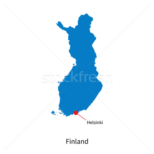 Detailed vector map of Finland and capital city Helsinki Stock photo © tkacchuk