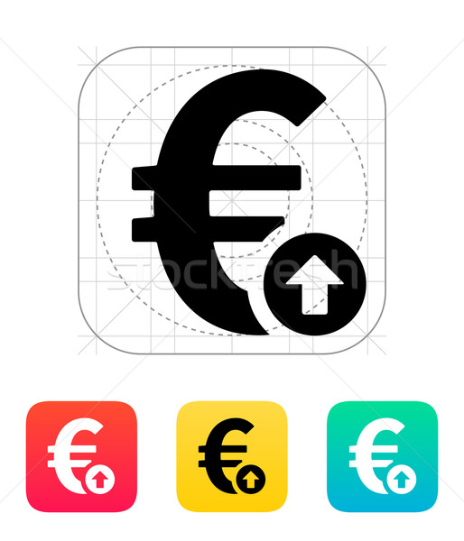 Euro csere gyakoriság felfelé ikon pénzügy Stock fotó © tkacchuk