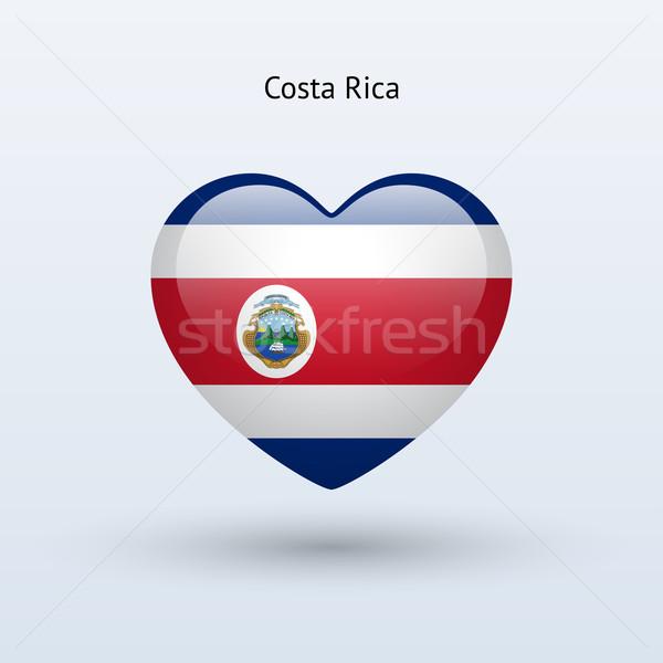 Stockfoto: Liefde · Costa · Rica · symbool · hart · vlag · icon