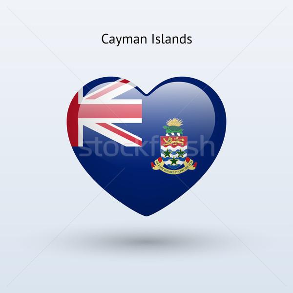 Love Cayman Islands symbol. Heart flag icon. Stock photo © tkacchuk