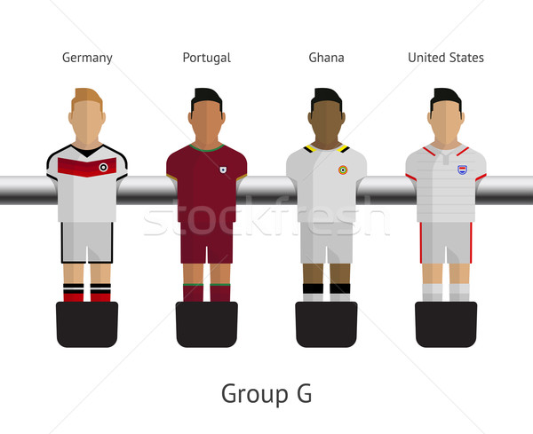 Table football, soccer players. Group G - Germany, Portugal, Ghana, United States Stock photo © tkacchuk