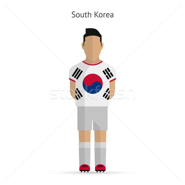 South Korea football player. Soccer uniform. Stock photo © tkacchuk