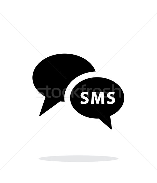 Phone dialogue icon on white background. Stock photo © tkacchuk