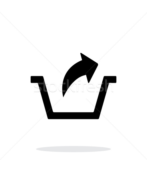 Remove from basket simple icon on white background. Stock photo © tkacchuk