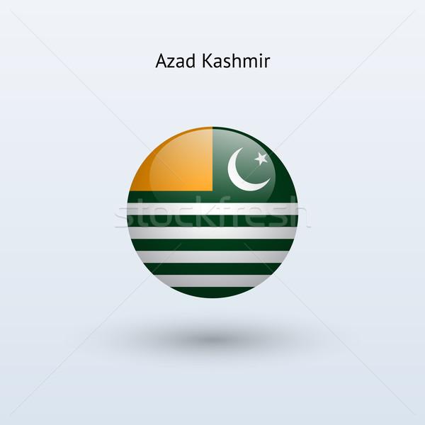 Azad Kashmir round flag. Vector illustration. Stock photo © tkacchuk