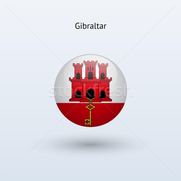 Gibraltar banderą szary podpisania internetowych podróży Zdjęcia stock © tkacchuk