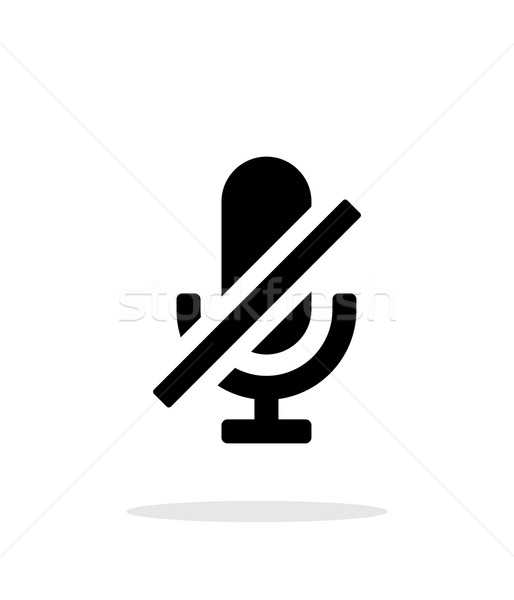 Turn off microphone simple icon on white background. Stock photo © tkacchuk
