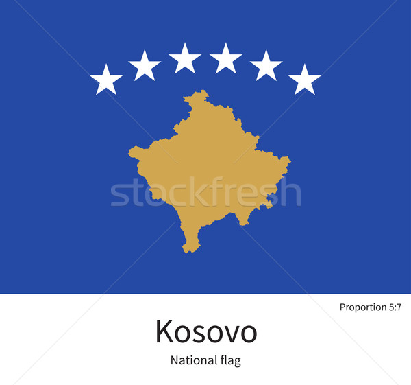National flag of Kosovo with correct proportions, element, colors Stock photo © tkacchuk