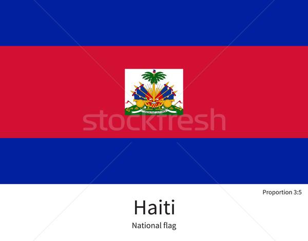 Bandiera Haiti correggere elemento colori istruzione Foto d'archivio © tkacchuk