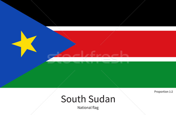National flag of South Sudan with correct proportions, element, colors Stock photo © tkacchuk