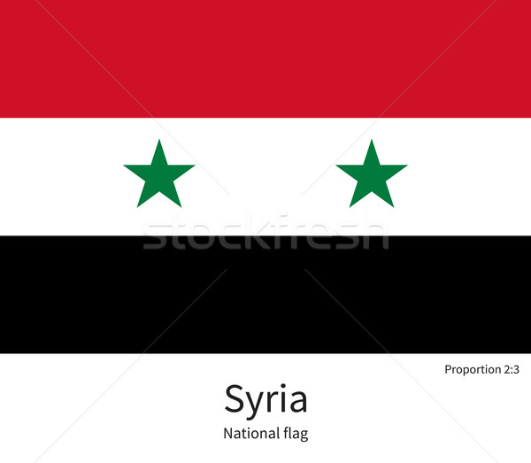 National flag of Syria with correct proportions, element, colors Stock photo © tkacchuk
