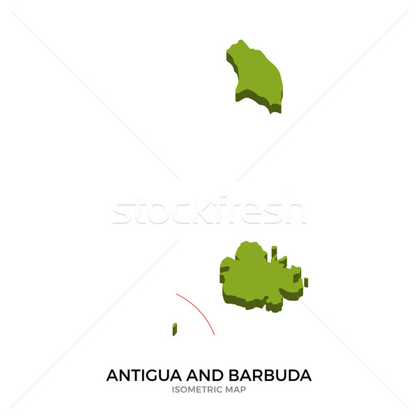 Isometric map of Antigua and Barbuda detailed vector illustration Stock photo © tkacchuk