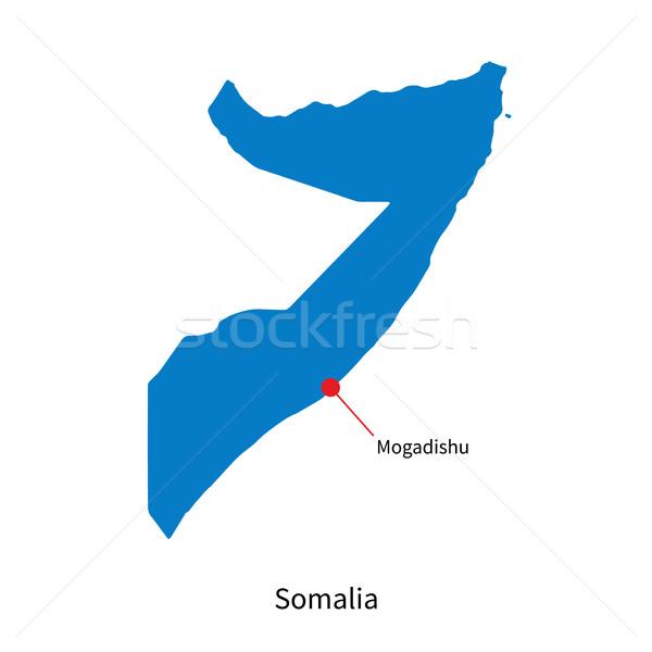 Szczegółowy wektora Pokaż Somali miasta ziemi Zdjęcia stock © tkacchuk