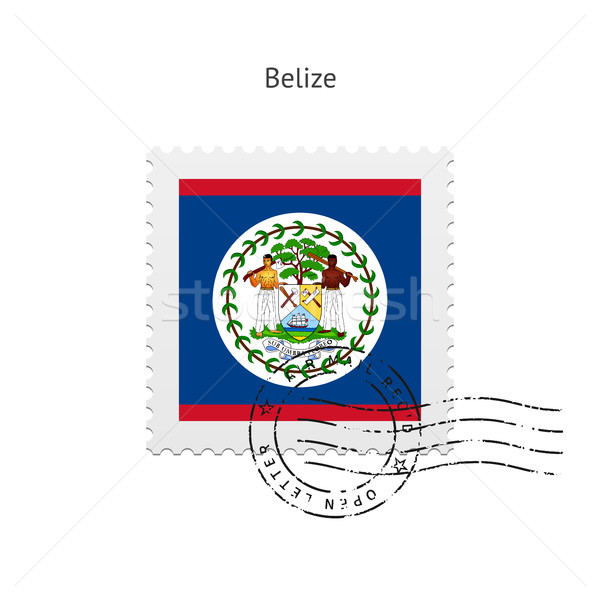 Belize Flag Postage Stamp. Stock photo © tkacchuk