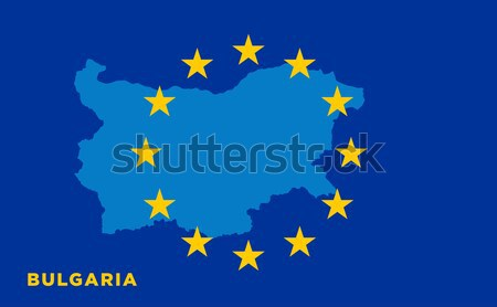 Flag of European Union with Cyprus on background Stock photo © tkacchuk