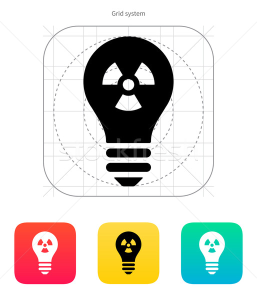 Atomic light icon. Vector illustration. Stock photo © tkacchuk