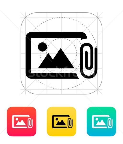 Stock photo: Attach photo icon.