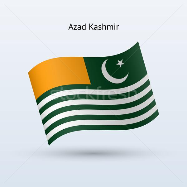 Azad Kashmir flag waving form. Stock photo © tkacchuk