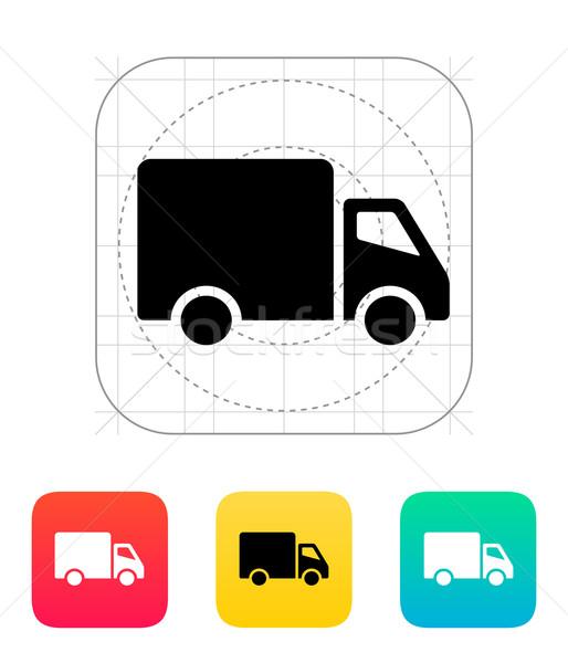 Camion de livraison icône fond camion paquet Auto Photo stock © tkacchuk