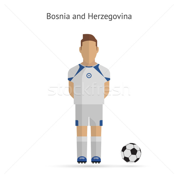 Futbolista Bosnia Herzegovina equipo uniforme fútbol hombre Foto stock © tkacchuk