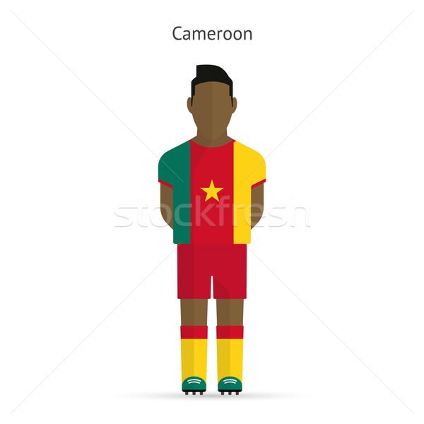 Camarões futebol uniforme abstrato fitness Foto stock © tkacchuk