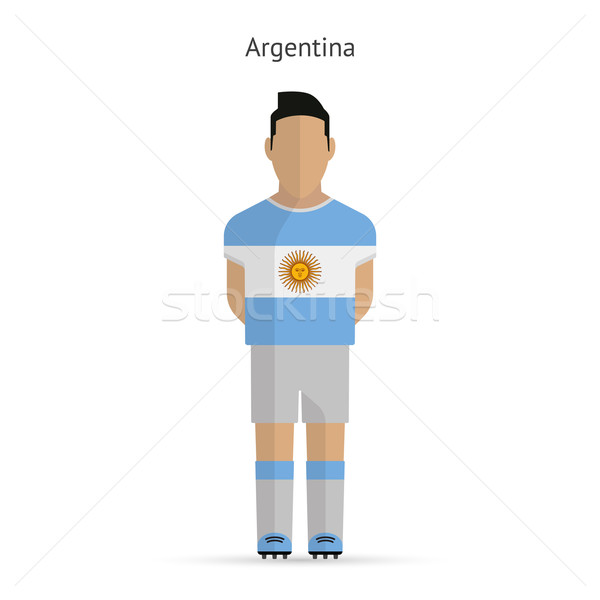 Аргентина футболист Футбол равномерный аннотация фитнес Сток-фото © tkacchuk