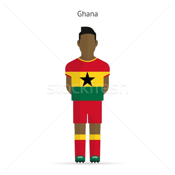 Ghana football player. Soccer uniform. Stock photo © tkacchuk