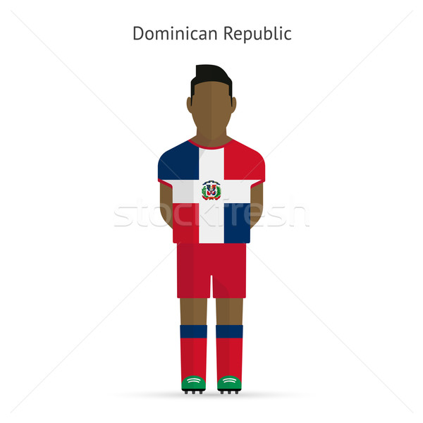 Dominican Republic football player. Soccer uniform. Stock photo © tkacchuk