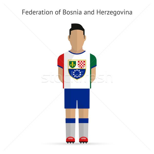 Federation of Bosnia and Herzegovina football player. Stock photo © tkacchuk