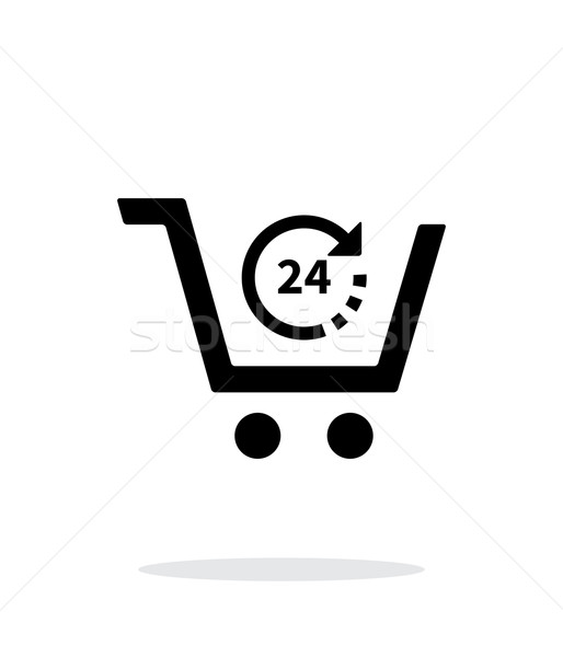 Convenience store simple icon on white background. Stock photo © tkacchuk