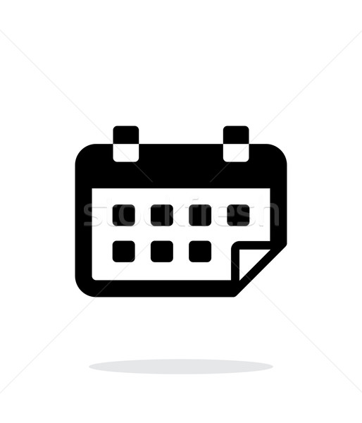 Calendario simple icono blanco gráfico plan Foto stock © tkacchuk