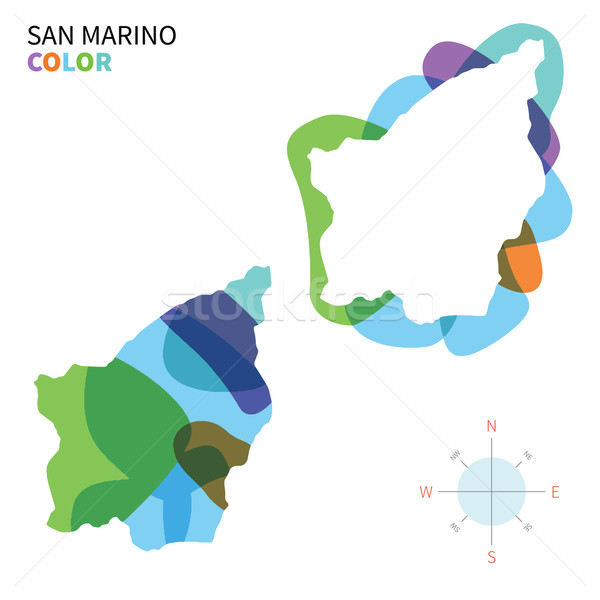 аннотация вектора цвета карта Сан-Марино прозрачный Сток-фото © tkacchuk
