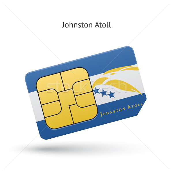 Johnston Atoll mobile phone sim card with flag. Stock photo © tkacchuk