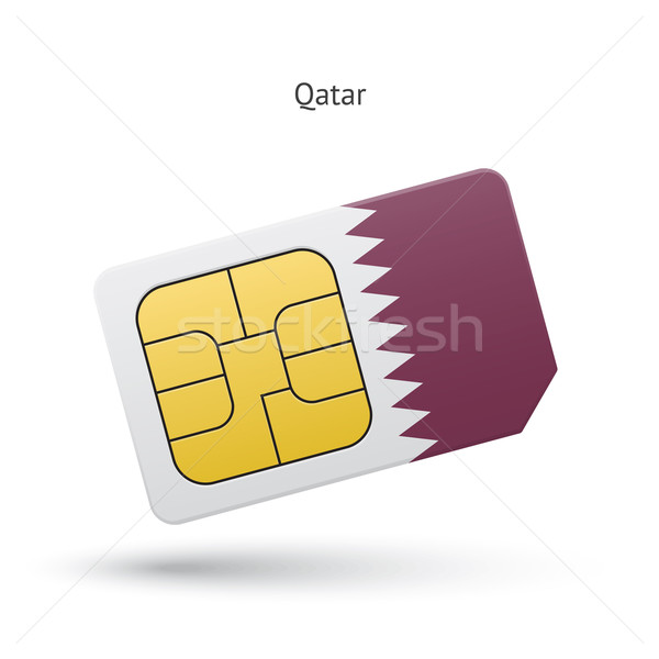 Katar cep telefonu kart bayrak iş dizayn Stok fotoğraf © tkacchuk