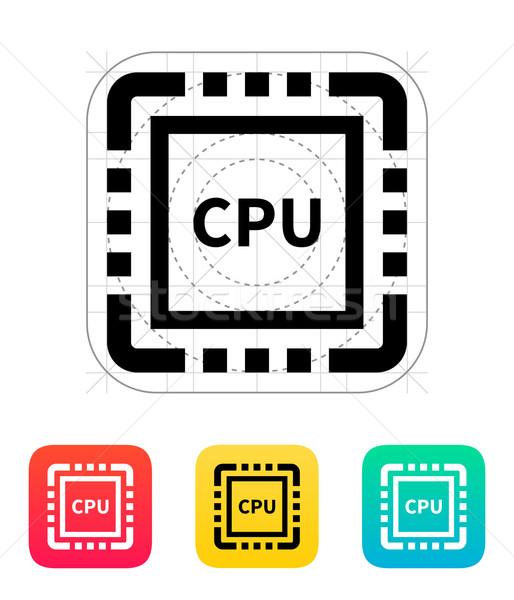 CPU icono vector ilustración ordenador Internet Foto stock © tkacchuk