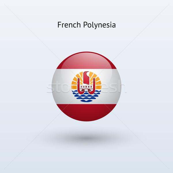 Francese polinesia bandiera grigio segno web Foto d'archivio © tkacchuk