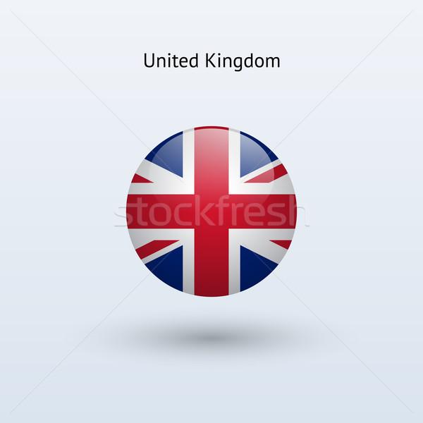 Büyük Britanya bayrak gri imzalamak web seyahat Stok fotoğraf © tkacchuk
