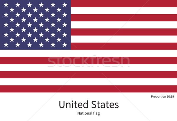 Bayrak Amerika Birleşik Devletleri düzeltmek renkler eğitim Stok fotoğraf © tkacchuk