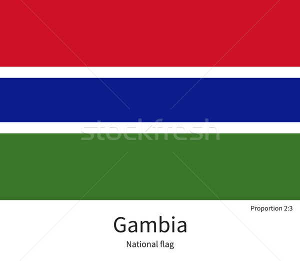 National flag of Gambia with correct proportions, element, colors Stock photo © tkacchuk