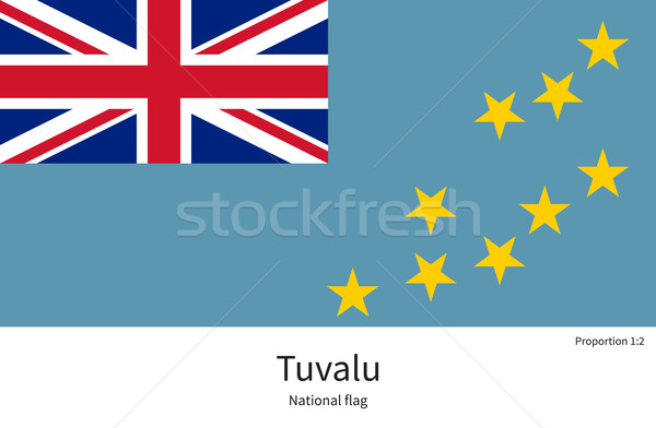 National flag of Tuvalu with correct proportions, element, colors Stock photo © tkacchuk