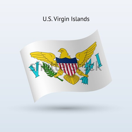 Credit card with U.S. Virgin Islands flag background for bank, presentations and business. Isolated  Stock photo © tkacchuk