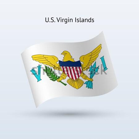 Creditcard Virgin Islands vlag bank presentaties business Stockfoto © tkacchuk