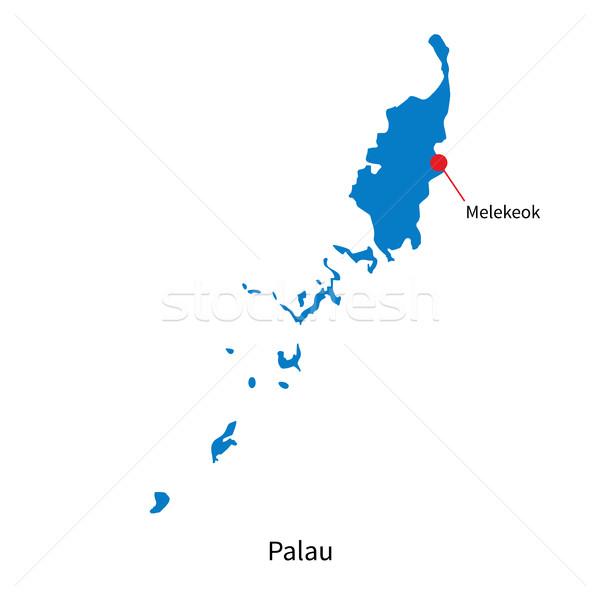 詳しい ベクトル 地図 パラオ 市 教育 ストックフォト © tkacchuk