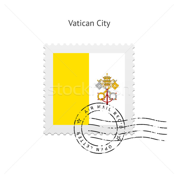 Watykan banderą znaczek pocztowy biały podpisania list Zdjęcia stock © tkacchuk