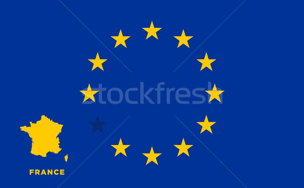 EU flag with France country. European Union membership France Stock photo © tkacchuk